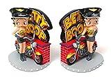 Betty Boop Biker Bookends
