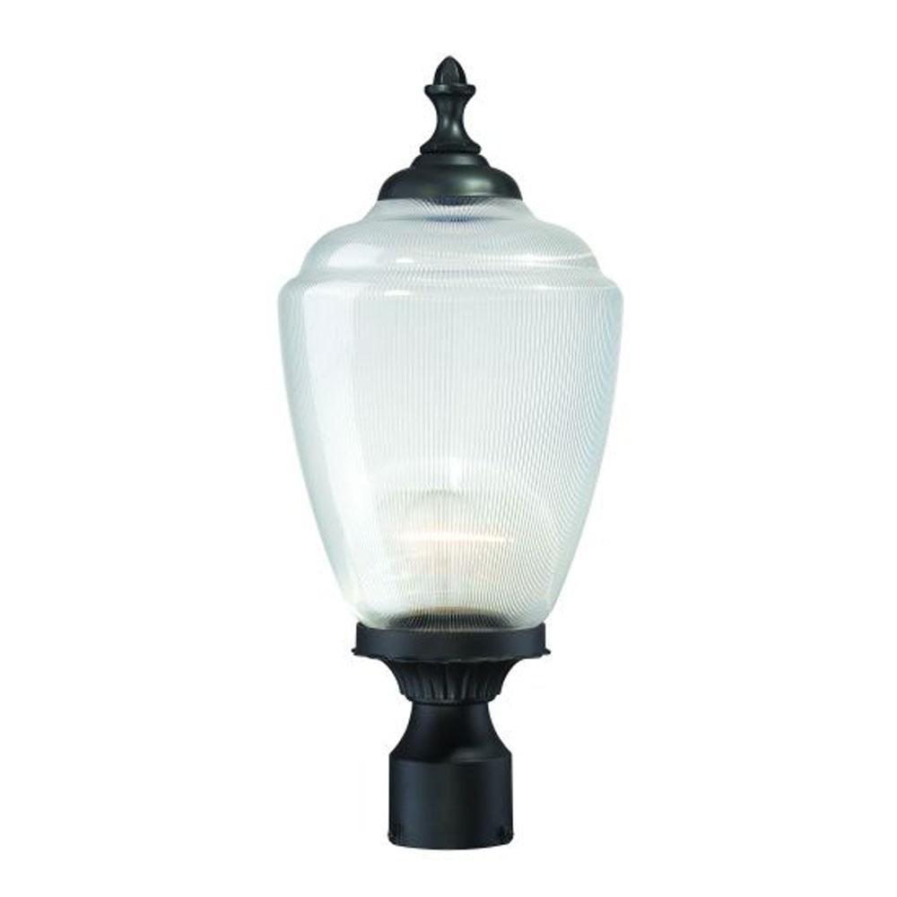 Acclaim 5367BK/CL Acorn Collection 1-Light Post Mount Outdoor Light Fixture, Matte Black