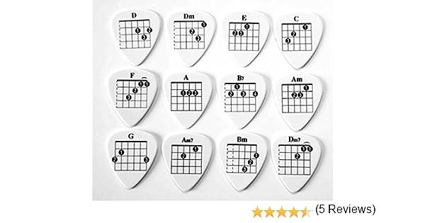 Púas para guitarra, con dibujo de acordes para guitarra, aptas ...
