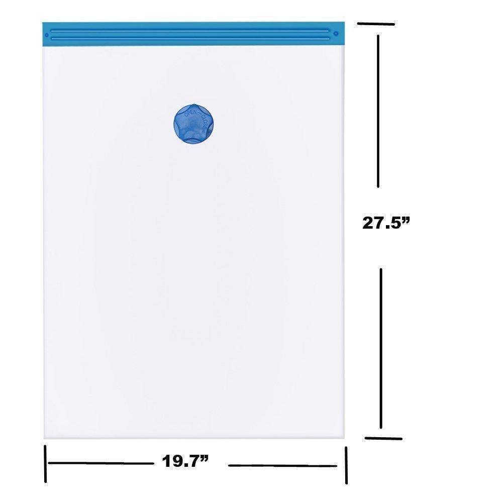 + 3 Medianas 70x50cm 6 Piezas Cherbell Bolsas de almacenaje al vac/ío Bolsas ahorradoras de espacio para ropa 3 grandes mantas /& almohadas 100x70cm edredones