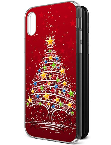 Christmas Iphone X Case.Protective Case For Iphone Xs Iphone X Iphone 10 Red Christmas Tree