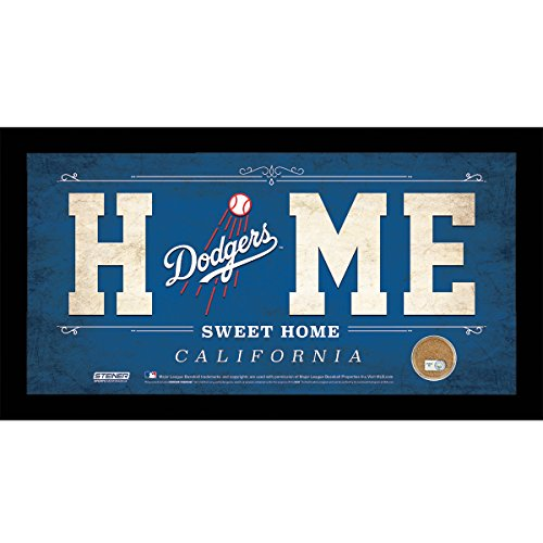MLB Los Angeles Dodgers Home Sweet Home Sign with Game-Used Dirt from (Los Angeles Dodgers Glass)