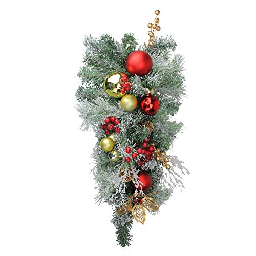 Northlight Wreaths and Garland/Swags Unlit Teardrops, Red ()