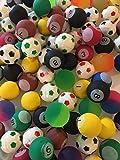 SO Schramm® 100 Stück Flummis gemischt 25mm SONDERPOSTEN Flummis Springball Hüpfball Mitgebsel Tombola Kindergeburtstag Restposten 100er Pack