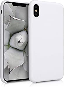 kwmobile TPU Silicone Case Compatible with Apple iPhone Xs Max - Soft Flexible Rubber Protective Cover - White