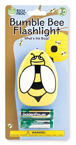 - Rich Frog Bumblebee Flashlight, Indoor and Outdoor Kids Flashlight, with Batteries