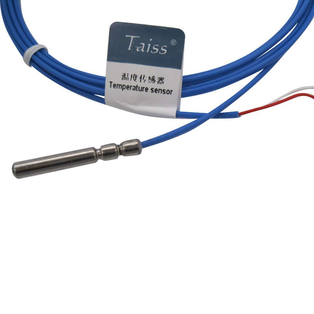 1 w/ählbar Temperaturbereich lange Sonde K-Typ Sonde Thermoelement Sensor /& Messger/ät Temperaturregler Waterproof -Probe 30mm