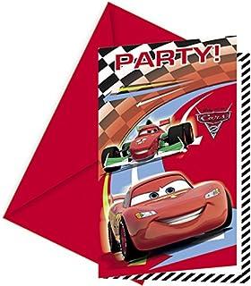 Disney Cars Invitaciones a fiesta, 6 unidades)
