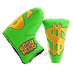 "Golf Headcover For Blade Putter, ""Cash Is King"", Green"