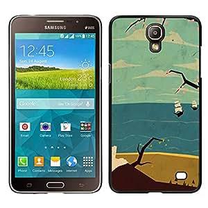 Samsung Galaxy Mega 2 / SM-G750F / G7508 Único Patrón Plástico Duro Fundas Cover Cubre Hard Case Cover - Sea Ship Ocean Clouds Sand Beach