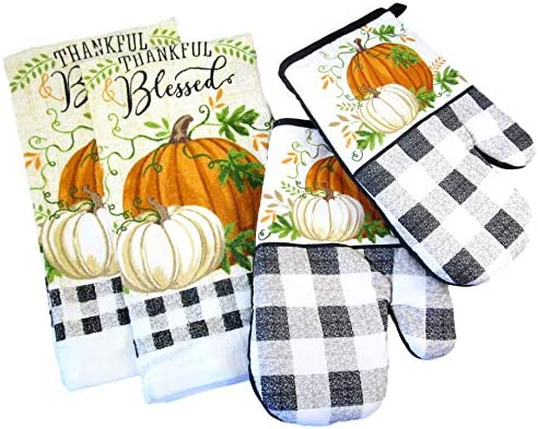 Fall Harvest Thanksgiving Kitchen Towels product image