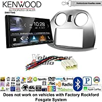 Volunteer Audio Kenwood DMX7704S Double Din Radio Install Kit with Apple CarPlay Android Auto Bluetooth Fits 2006-2012 Mitsubishi Eclipse