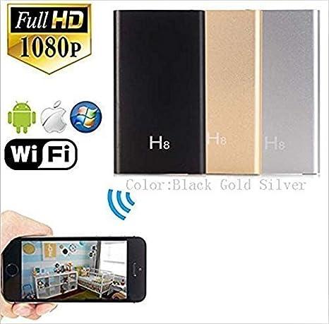 tensky 1920 x 1080P HD Mini Wifi Red Cámara Espía Videocámara DV Grabador con 140 ° gran ángulo de visión apoyo iPhone Android App vista remota IR visión ...