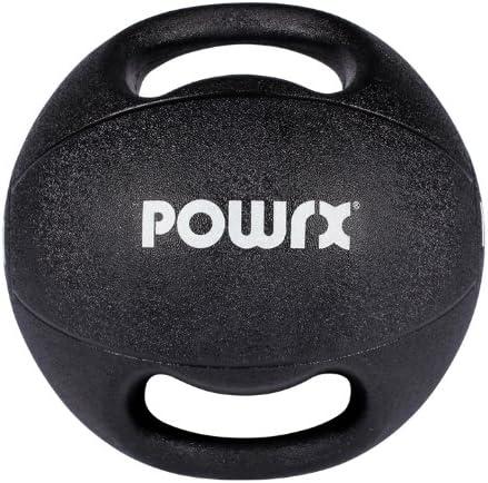 POWRX - Balón Medicinal con Asas 3 kg + PDF Workout (Negro ...