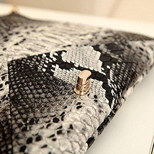 Purse Retro Fashion Evening Skin Clutch Snake Size Women's Envelope Bag Bag XJG 2 Epq1w86x1