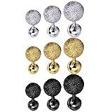 BodyJ4You 9PCS Tragus Ball Piercing Stud Earring Set 16G Surgical Steel Helix Ear Barbell Pack (1.2mm)