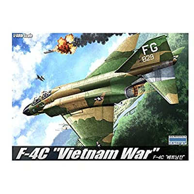 Academy Vietnam War F-4C Plastic Model Kits 1/48 Scale: Toys & Games