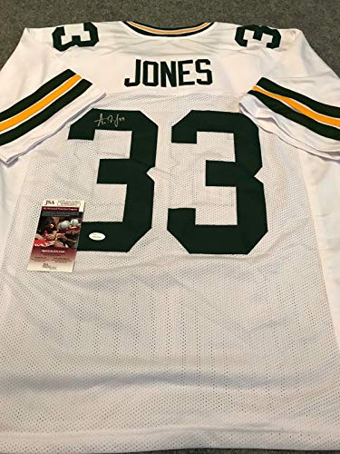 G.B. PACKERS AARON JONES AUTOGRAPHED SIGNED JERSEY JSA COA