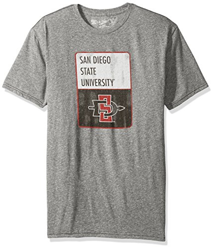 NCAA San Diego State Aztecs Men's Triblend Tee, XX-Large, Steel ()
