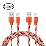 iPhone Cable charger-2 Pack (1m)Gulf W Fast Sync Data Cable for iPhone6 6s 6plus 6splus 7 7plus SE 5s 5c 5 iPad Pro Air iPod (2pack 1M Camouflage Orange)