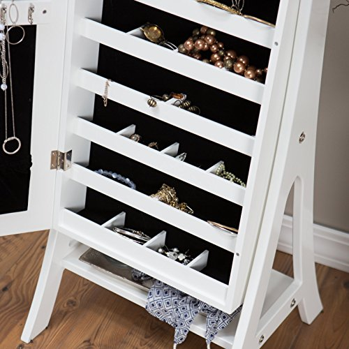 belham living full length cheval mirror jewelry armoire with import it all. Black Bedroom Furniture Sets. Home Design Ideas