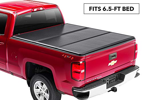 (Rugged Liner Premium Hard Folding Truck Bed Tonneau Cover | HC-C6599 | fits 88-07 Chevy/GMC 6.5ft. Old Body Style, 6'5