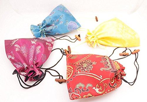 10pcs Brocade multi color manmade silk cloth jewelry bag pouch 15cmX18cm