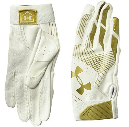Under Armour Womens Radar Baseball Glove, White (101)/Metallic Gold, Small