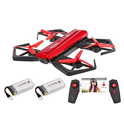 GoolRC T33 WiFi FPV 720P HD Camera Quadcopter Foldable G-Sensor Mini RC Selfie Pocket Drone Height Hold One 2 Batteries from GoolRC