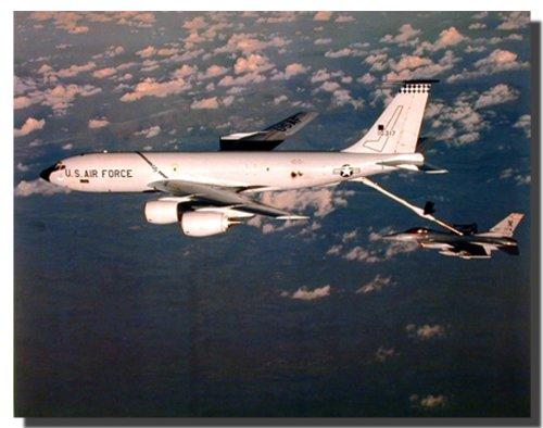 Boeing KC-135 Tanker Refuels F-16 Military Aviation Aircraft Wall Decor Art Print Poster (16x20) Boeing 707 Kc 135