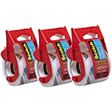 Scotch Heavy Duty Shipping Packaging Tape, 2 x 800 - Clear - 3 Count
