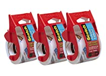 Scotch Heavy Duty Shipping Packaging Tape, 2 x 800 - Clear (3 Tapes)