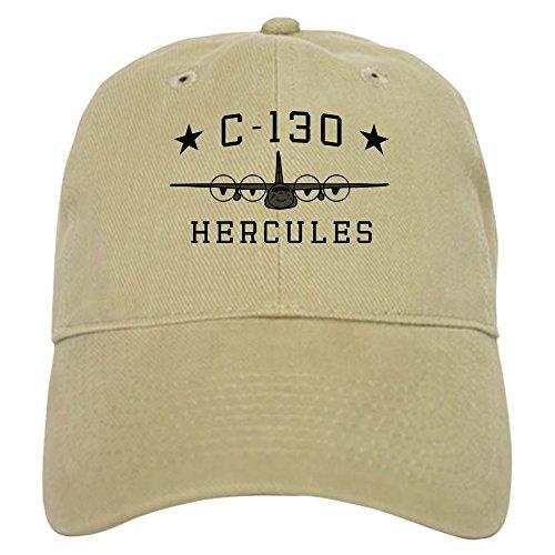 C-130 Plane - CafePress C 130 Hercules Baseball Cap with Adjustable Closure, Unique Printed Baseball Hat Khaki