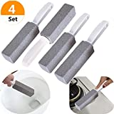 Palksky (4 Pack) Pumice Cleaning Stone with Handle Stains Hard for Toilet Water Ring Remover Rust Grill Griddle Cleaner for Kitchen Bath Pool Spa Household Cleaning
