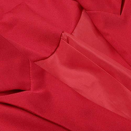 Manches Manteau Chemises Couleur Tops POTTOA d'automne Sexy Femmes Pull Vestes Chemisier Tee Les Caps Femme Blouse de Longues Mode Sexy Unie Swag Shirt Rouge Loose de Imprimes Longue Tee Blouse xO8PwO