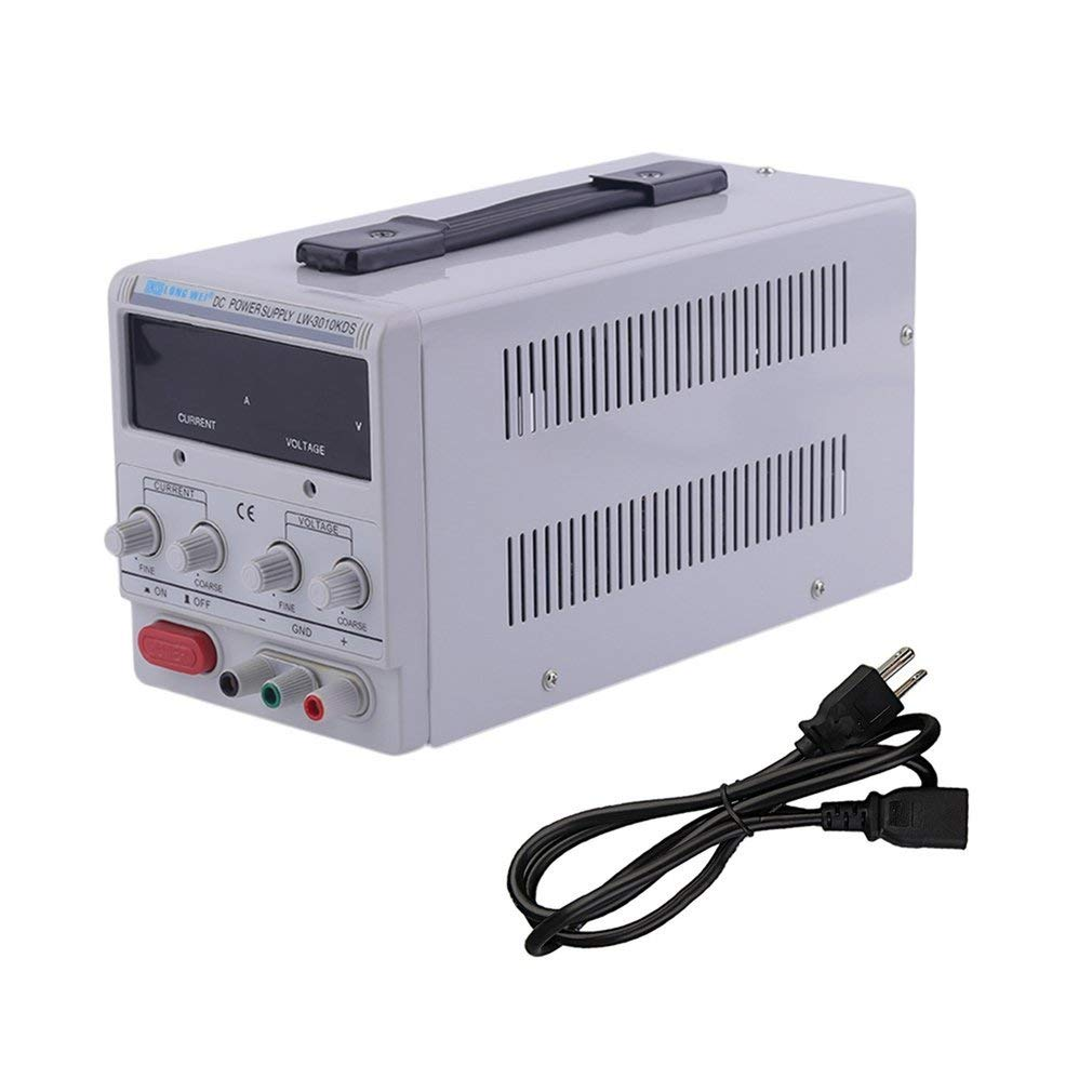 Leoboone Universal DC030V Power Supply Adjustable Dual Digital Variable Precision Overload Short Circuit Predecting Supply