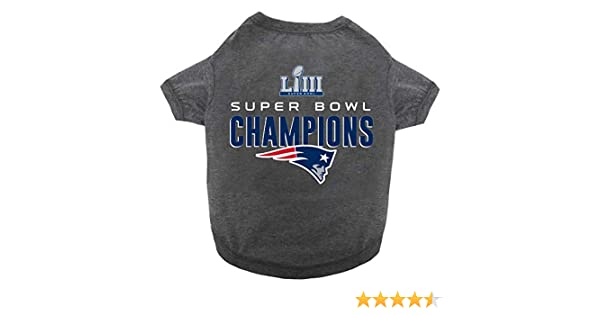 f3b540500 Amazon.com   NFL New England Patriots 2018-2019 Super Bowl LIII  Championship Pet Tee Shirt   Sports   Outdoors