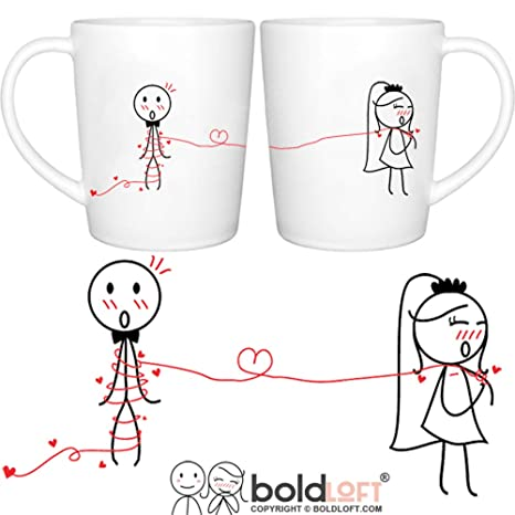 Amazon Boldloft Tie The Knot His And Hers Wedding Coffee Mugs