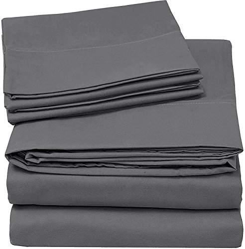 Utopia Bedding 4-Piece Queen Bed Sheet Set - Soft Brushed Microfiber Wrinkle Fade and Stain...
