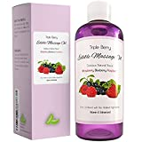 Edible Massage Oil Raspberry Blueberry Strawberry - Sensual Massage Oil for Sex - Sore Muscle Massage Oil - Anti Aging Oil Blend - Anti Wrinkle for Men & Women - Anti Cellulite All Natural Ingredients review
