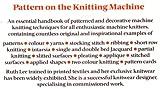 Pattern on the Knitting Machine, Ruth Lee, 071345914X