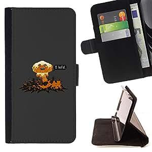 BullDog Case - FOR/Samsung Galaxy S5 V SM-G900 / - / I Lol'D Abstract - Funny /- Monedero de cuero de la PU Llevar cubierta de la caja con el ID Credit Card Slots Flip funda de cuer