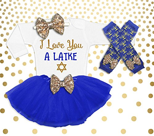 Hanukkah Outfit Baby Girl 1st Hanukkah Outfit Girl's Hanukkah Outfit Baby Girl Hanukkah Shirt I love you a Latke Latke Shirt by Oliver and Olivia Apparel