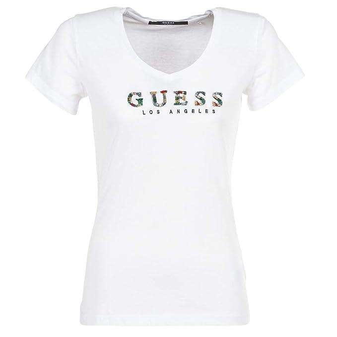 GUESS Gipsy Tops y Camisetas Mujeres Blanco - XL - Camisetas Manga Corta: Amazon.es: Zapatos y complementos