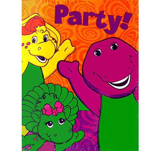 Invitations Barney (Barney and Friends Vintage 2002 Invitations and Thank You Notes w/ Envelopes (8ct ea.))