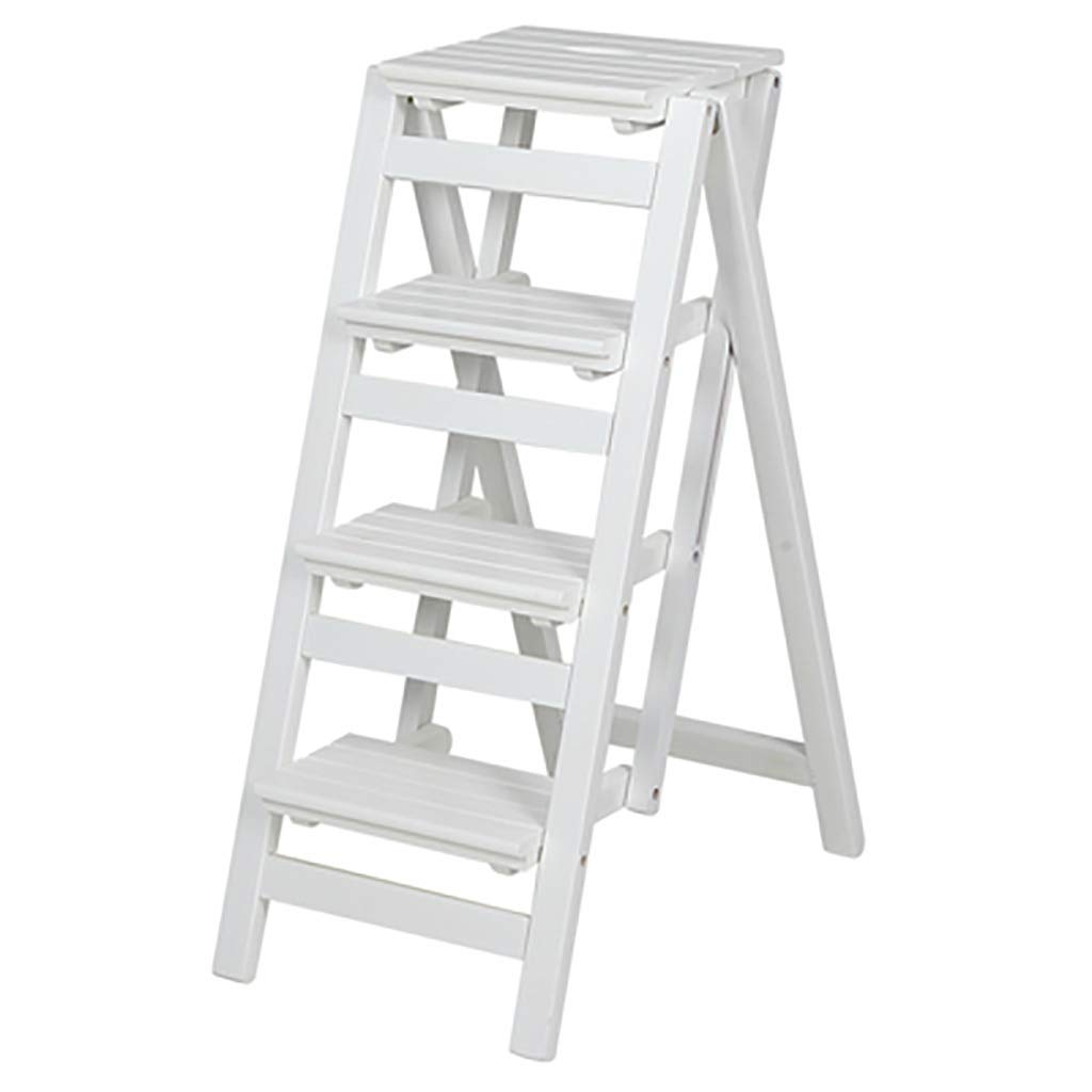 無垢材多機能折りたたみはしご2段式はしごチェアフレーム上昇式はしごベンチ収納ステップ棚 (色 : C, サイズ さいず : 41.5*65*92cm) B07NWJLTPP C 41.5*65*92cm