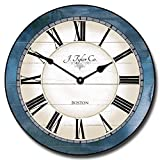 The Big Clock Store Carolina Blue Wall Clock, Available in 8 sizes, Most Sizes Ship 2-3 days, Whisper Quiet.