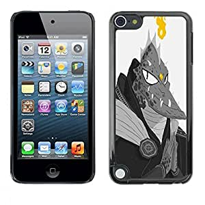 Hard Protector Case Cover Slim Back Shell for Apple iPod Touch 5 /Monster Lizard Man Dragon Ufo Fire Alien/ STRONG