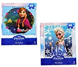Frozen Princesses Anna and Elsa 48 Piece Puzzles (Set of 2 Puzzles) thumbnail