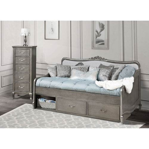 Hillsdale Kids and Teens 30040NS Kensington Elizabeth Daybed with Storage, Antique Silver